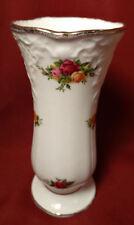 1962 Royal Albert OLD COUNTRY ROSES England Scrolls Flower Bud Vase