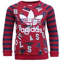 Adidas Originals Red Navy Striped Birds Kids Long Sleeve Track Suit S95941 EE11