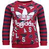 Adidas Originals Red Navy Striped Birds Kids Long Sleeve Track Suit S95941 EE31