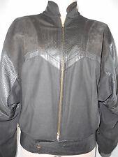 BRASSBOOT Womens Bike Motorcycler Rider Leather Suede Jacket Coat Black Sz Large