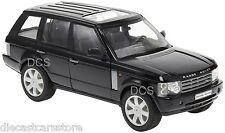 WELLY 2003 LAND ROVER RANGE ROVER BLACK 1/24 DIECAST CAR 22415W-BK