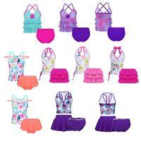 Toddler Kids Girls Tankini Set Swimwear Bikini Swimsuit Bathing Suit Beachwear