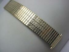 "Brite Mens Watch Band Vintage Strght Expansion Gold Tone 17.5mm-22mm 11/16""-7/8"""