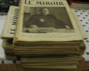 RARE - Le miroir - hebdomadaire période guerre 1914 à 1920 - Lot 175 magazines,