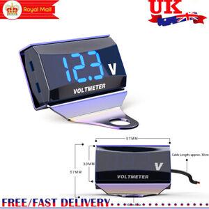 Motorcycle DC 10-150V Digital Voltmeter LED Display Waterproof Voltage UK T9Z7