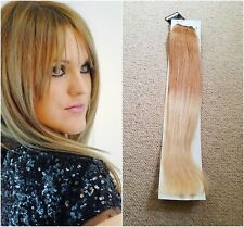 "Hair extensions weave weft human remy hair AAA18"" #27/613 Ombre blondes UK"
