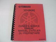 Yamaha Yz125 W Motorcycle Service Manual - late 1980's