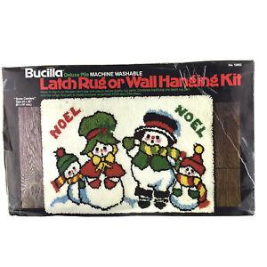 Bucilla Latch Hook Rug Snowman Snow Carolers Family Kit 12955