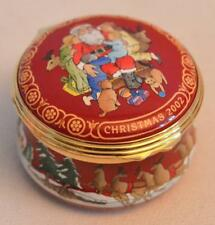 Halcyon Days English Enamels Christmas 2002 Trinket Box