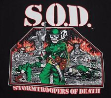 L * NOS vtg 1992 S.O.D. reunion t shirt * STORMTROOPERS OF DEATH * 42.131