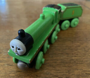 Learning Curve Wooden Thomas the Train Sad Face Come Out Henry! Rare