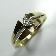 894 - Klassischer Einsteiner Ring Gold 585 Brillant 0,12 ct. - 1811/85