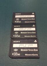 THREE - Sony PSP 32MB Memory Stick Card DUO Magic Gate Official OEM Original