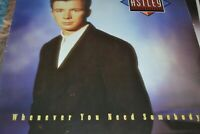 RICK ASTLEY    WHENEVER YOU NEED SOMEBODY    LP   RCA RECORDS   PL 71529    1987