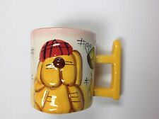 Brew Ha Ha! Dog Mug - Barks with every sip! - Yellow dog with hat - In box