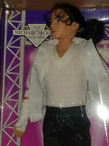 """Michael Jackson 12"""" Doll King Of Pop Figure 1995 BLACK OR WHITE OUTFIT COLLECTOR"""