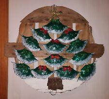 Hand painted Wooden Crab bushel basket lid Christmas Tree Door/Wall Hanging