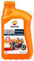 1 LT Litro Olio Moto 4 Tempi 4T Repsol Moto 100% Sintetico 10W40 Fully Synthetic