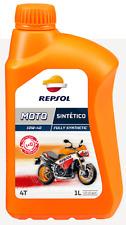 2l L aceite moto 4 tiempos 4T Repsol 100 Sintético 10w40 totalmente