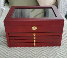 Wooden Coin Case Holds 125 Coins