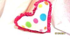 Handcrafted Heart Pillow Fleece Polka Dots