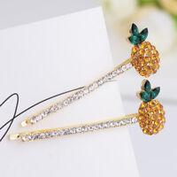 Headwear Accessories Crystal Jewelry Rhinestone Pineapple Hair Clip 2pcs