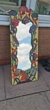 Hand Crafted, Hand Painted, Wooden Fish Mirror