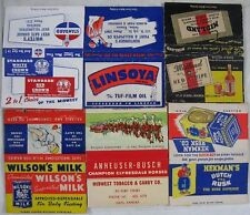 12 1940's 40 Strike Bob Tail Matchbooks Budweiser Beer Tea Milk Oil Whiskey