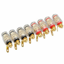 8Pcs 4mm Amplifier Speaker Terminal Binding Post Banana Plug Jack A1S3