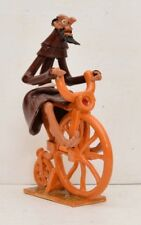 Friar Riding Bicycle Art Pottery Clay Monk Cor France Bike Weird Velocipede VTG