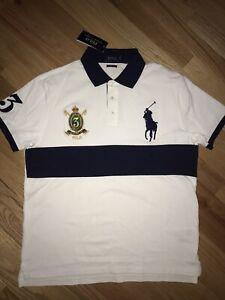 nwt $98.50 Polo Ralph Lauren Custom Slim Fit 100% Cotton Polo Shirt sz L