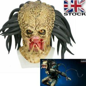 UK Predator Cosplay Mask Costume Helmet Antenna Horror Headgear Halloween Props