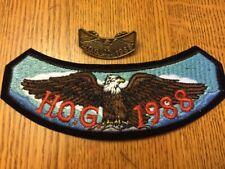 1988 HOG Rocker Patch & Matching Pin HARLEY-DAVIDSON Owners Group Members HD MC