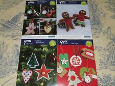 hobbycraft - christmas tree decorations  - 4 x leaflets/charts
