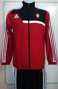 CA OSASUNA PRESENTATION SUIT BY ADIDAS SIZE BOYS 15-16 YEARS BRAND NEW WITH TAGS