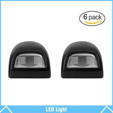 6Pcs Rear License Plate Light Lens For Chevy Silverado Sierra Pickup Escalade