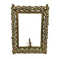 """Brass Victorian V. Sautie Style Art Nouveau Antique Picture Frame Ornate 12"""""""