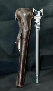 Minox Metal Table Top Monopod Pocket Tripod with Leather Case Spy Camera