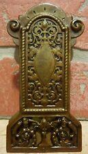 Antique Bronze Decorative Arts Paperclip Exquisite Desk Tool Ornate Scrollwork