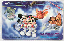Japanese phonecard Advertising Disneyworld with Donald and Minnie Duck