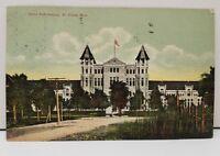 St Cloud Minnesota STATE REFORMATORY Building Postcard Saint Cloud to Echo Minn