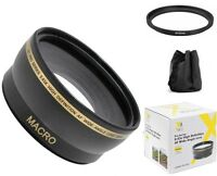 Xit Wide Angle Lens for Canon Vixia HF R800 R82 R700 R600 R72 R70 R62 M500 &more