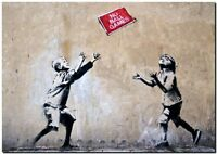 "BANKSY STREET ART CANVAS PRINT playmate of the month 24""X 36"" stencil poster"