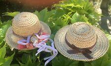 2 Jolie chapeau de paille pour poupée