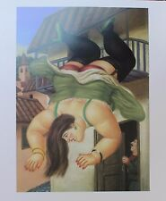 Fernando Botero Lithograph Poster Over The Balcony 1994 Full Size