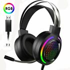 7.1 Surround Gaming Headset with Sound Card Chip 16 Backlit for PS4 Xbox one S X