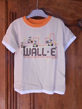tee-shirt disney WALL-E beige/orange taille 4 ans - neuf