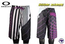 """Mens Oakley Factor Black Purple Boardshort Surf Board Shorts Male Size 30"""" New"""
