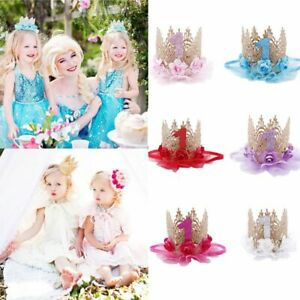 Party Decoration Crown Hair Band Baby Birthday Hat Flower Headwear 1 Years Old