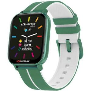 Smartwatch SUPERGA SW-STC009 Silicone Verde TOUCHSCREEN NEW